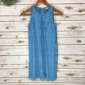 Dresses & Skirts - ELEGANT BABY BLUE LACE TANK DRESS SIZE SMALL